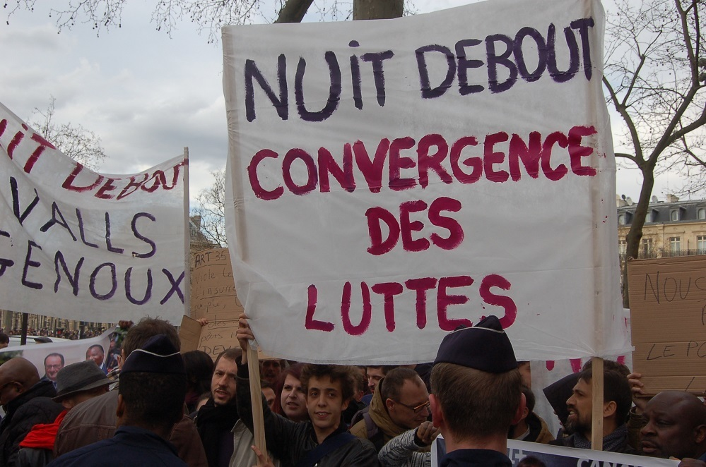 Protest at nuitdebout Day 5
