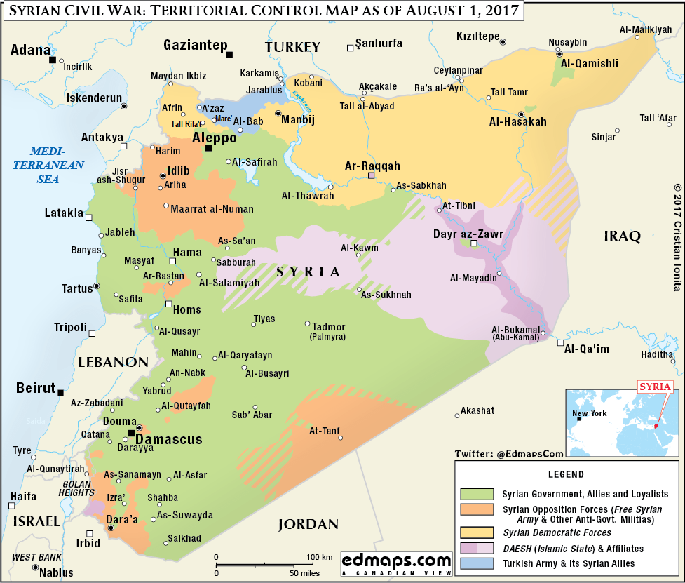 Syrian Civil War August 1 2017